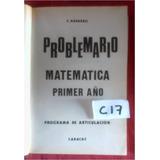 Libro Problemario Matematica Primer Año Navarro