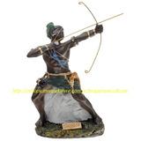 Imagem Oxossi Orixa Africa Estatua 23cm Arco E Flecha Metal