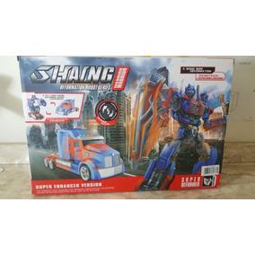 Caminhao Transformers Controle Remoto 2.4ghz Robo Som