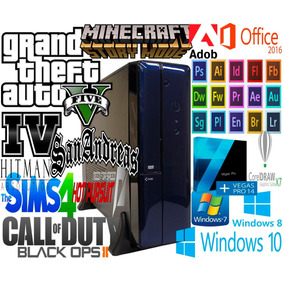 Pc Gamer Con Gtav +12 Juegos Instalados +programas Diseño A4