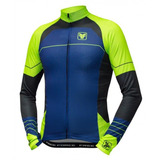 Camisa Bike Manga Longa Free Force Flat Verde