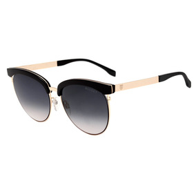 Bulget Bg 5114 - Óculos De Sol A01 Preto E Dourado Brilho/