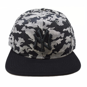 Bone New Era Ny Camuflado Aba Reta Original Nf