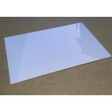 Chapa Placa De Acrílico 2mm Espessura Branco 50 Cm X 50 Cm
