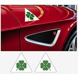 Alfa Romeo Calcomanía Lateral Quadrifoglio Verde 2 Pzas. L