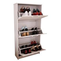 Mueble Botinero Para 18 Pares De Zapatos Color Blanco
