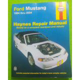 Libro Manual Haynes Ford Mustang 1994 2004 Repair Auto