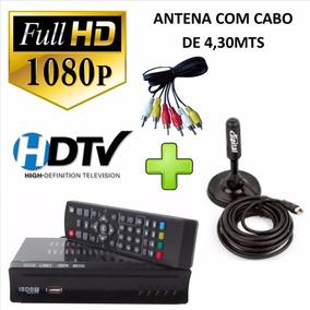 Kit Conversor Digital Full Hd Hdmi + Antena Tv Receptor Uhf