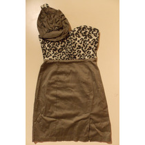 Vestido Escote Corazon Push Up Animal Print Aplique Nuevo Sm