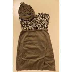 Vestido Escote Corazon Push Up Animal Print Aplique Nuevo Sm