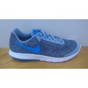 Tenis Nike Flex Experience Run 6 Prem Azul / Negro Caballero