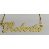 Cordão De Ouro 18 K 750 Personaliazado Com Nome