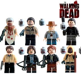 8 Bonecos Minifiguras The Walking Dead - Compatível Lego