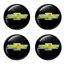 Kit Emblema Gm Botom Calota Roda Resinado 48 Mm 4 Peças
