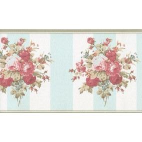Cenefa Decorativa Con Imagen De Rosas 2 Rollos
