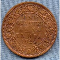 India 1/4 Anna 1929 * Colonia Inglesa * George V *