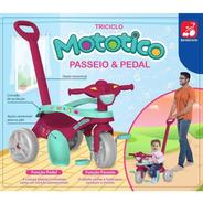Triciclo Mototico Passeio Rosa - 693 Bandeirante