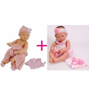 Boneca Bebe Anjo Reborn + Baby Ninos Cotiplas Menina