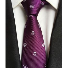 Corbata De Calaveras Esqueletos Gótica Rocker Varios Colores