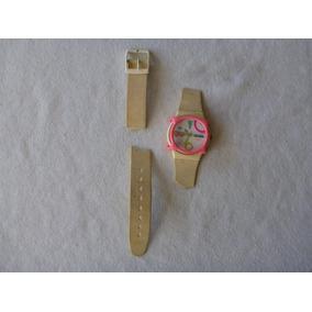 Reloj De Pulsera Pop Swatch Blanco Vintage -leer Detalle-