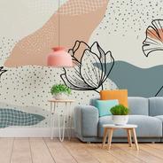 Painel Adesivo Papel De Parede Floral N011155 M²