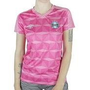 Camisa Grêmio Feminina Comemorativa Outubro Rosa 2019/20