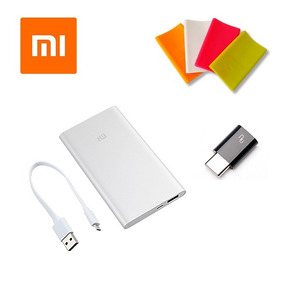 Xiaomi Power Bank 2 5000 Mah Adaptador Tipo C Y Funda Msi