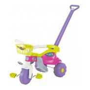 Triciclo Motoca Infantil Tico Tico Festa Rosa Com Aro