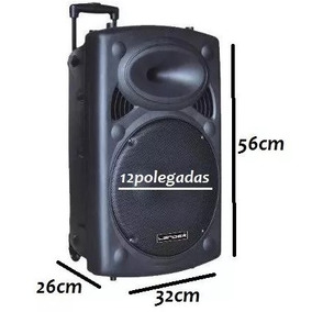 Caixa Som 3300w Amplificada Sub 12 Pol Bluetooth Fm Usb Mp3