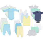 Kit Roupa De Bebê Enxoval Maternidade Recém-nascido 18 Peças