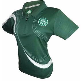 Camisa Do Polo Do Palmeiras Baby Look Feminina