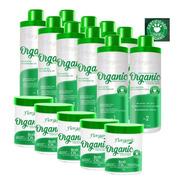 5 Kits Escova 0% Formol 1 L + Bott Ox 1kg - Fiorganic