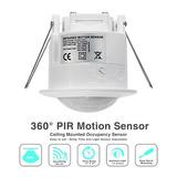 5 Sensor De Presença Fotocélula Para Embutir Teto