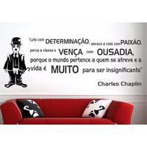 Adesivo Decorativo Papel De Parede Frase Chaplin - Lute Viva