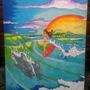 Cuadros De Surf. Adriano Surf Art. 0,70 X 0,90 Cm.
