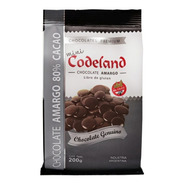 Chocolate Amargo  80 % Mini Codeland X 200 Grs