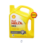 Aceite De Motor Shell Helix Hx5 15w40 Mineral X 4 Litros