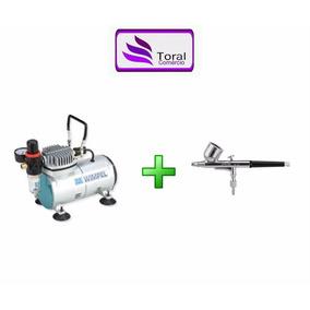 Kit Compressor Comp1 Wimpel + Aerógrafo Bc61-0.3 Steula