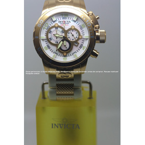 Invicta 1024 52mm Corduba Ibiza Branco Plaque 18k Original