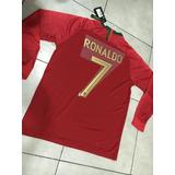 Camiseta Portugal 7 Ronaldo M/larga Rusia 2018