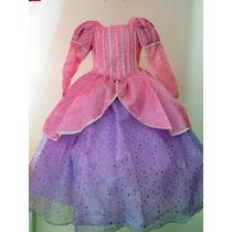 Espectacular Vestido Disfraz De Lujo Princesa Ariel Tiara