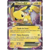 Carta Pokémon - Pikachu-ex - Ultra Raro - Português
