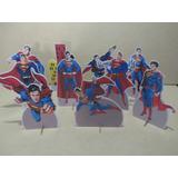 Kit 10 Totens Super Homem, Decoração Mesa 15 Cm