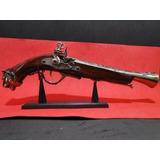 Revolver Pirata Cabo Cabeça De Tigre Peças Moveis Pistola
