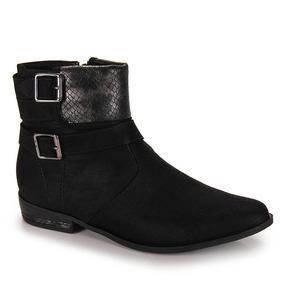 Ankle Boots Conforto Feminina Ramarim - Preto