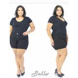Shorts Bermuda Plus Size Jeans Roupas Femininas