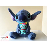 Peluche Stitch + Trapo Disney - Tamaño 25 Cms.