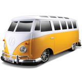 Maisto-rádio Controle Volkswagen Van Samba 1:10 Kombi Amarel