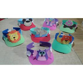 Viseras Goma Eva Animales. Cumples Infantiles X10