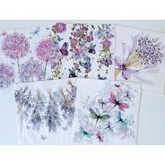 Servilletas Decoupage Mariposas Y Flores Lila Laura Craft